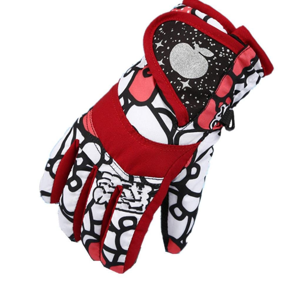 TONSEE Winter Warmest Waterproof and Breathable Snow Gloves for Kids Skiing, Snowboarding Black) TONSEE_C3970