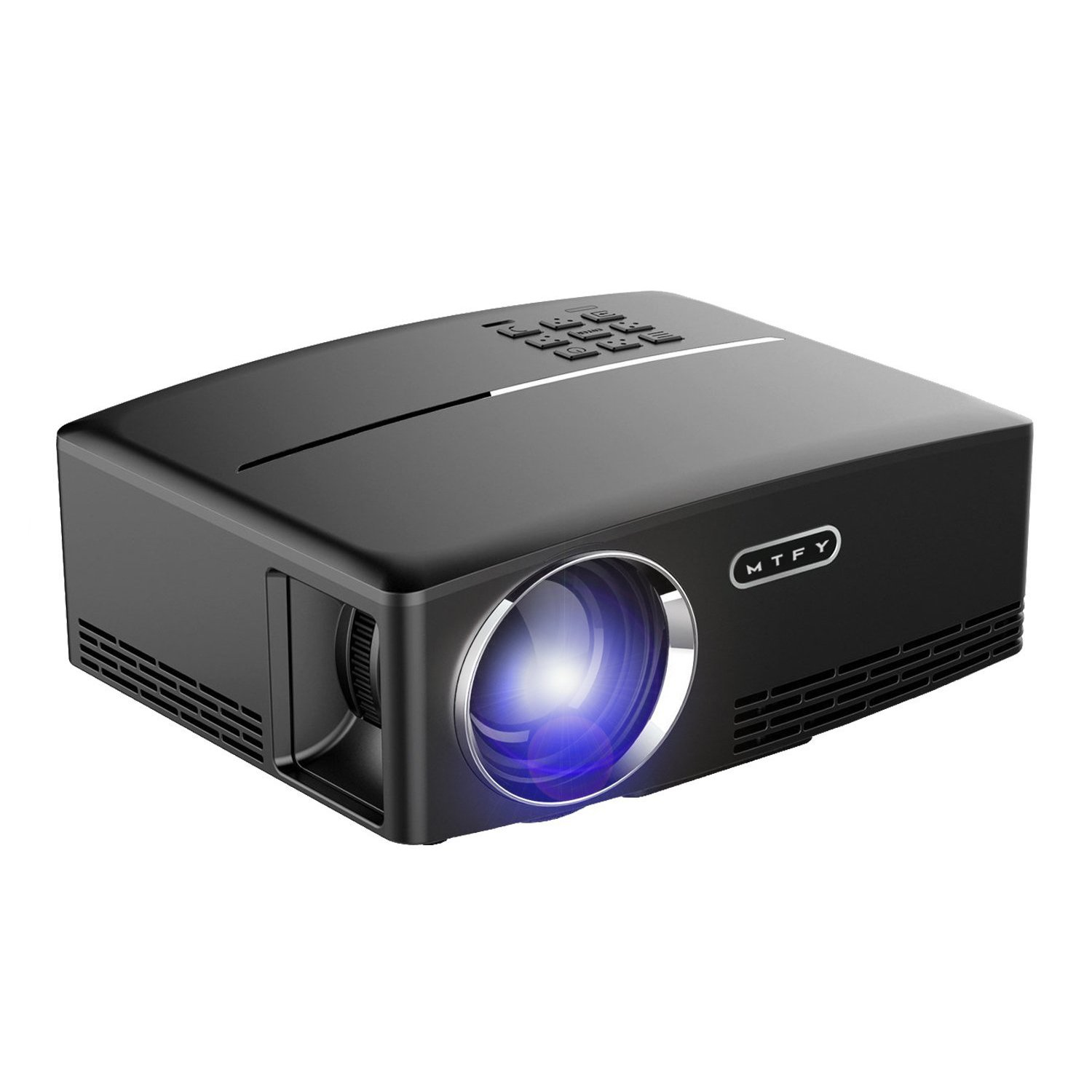 MTFY Projector-Mini Portable Video Projector-1800 Lumens LED Home Theater Projector-Support HD 1080P HDMI USB VGA AV for PC/Laptop/DVD/TV /Video/Photo/Game/Movie
