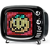 Divoom Tivoo Retro Bluetooth Speaker - Pixel Art DIY Box, RGB Programmable 16X16 LED, Support Android & iOS; TF/SD Card & Aux