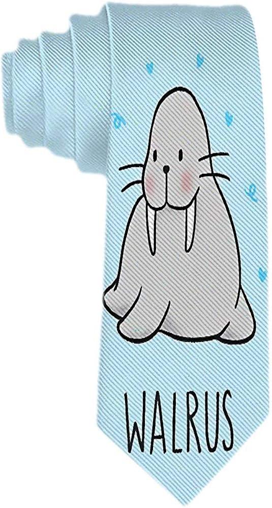 Corbata Clásica Para Hombres Corbata De Dibujos Animados De Morsa ...