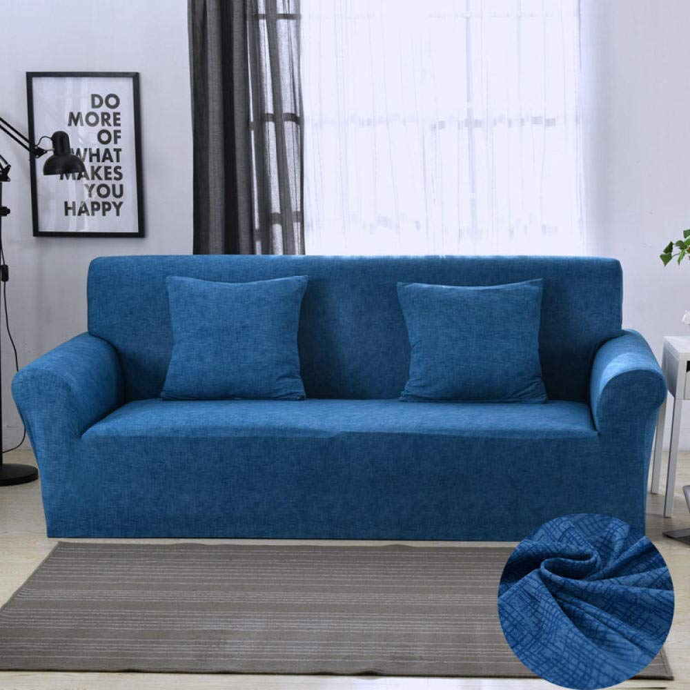 Elastische Sofabezug Baumwolle Sofa Hussen Engen Wrap All-Inclusive Wohnzimmer Haustiere Heimtextilien komfortable Staubschutzhülle-Farbe 18_Kissenbezug 2tlg
