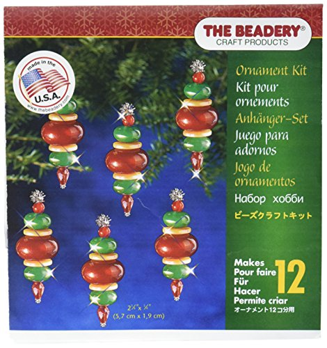Beadery Holiday Beaded Ornament Kit, 2.25-Inch by 0.75-Inch, Victorian Baubles, Makes 12 Ornaments (Ornament Kits)