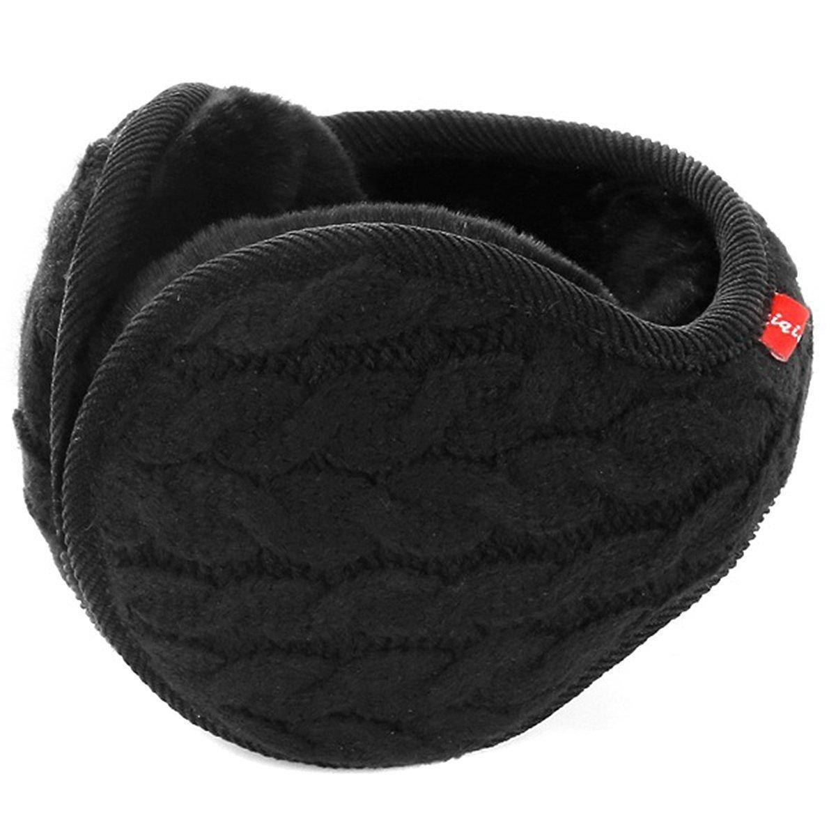 Hustar Unisex Gestrickte Ohrenw/ärmer Earband Ohrensch/ützer Winter Warme Ohrenschutz mit Innenfutter Beige