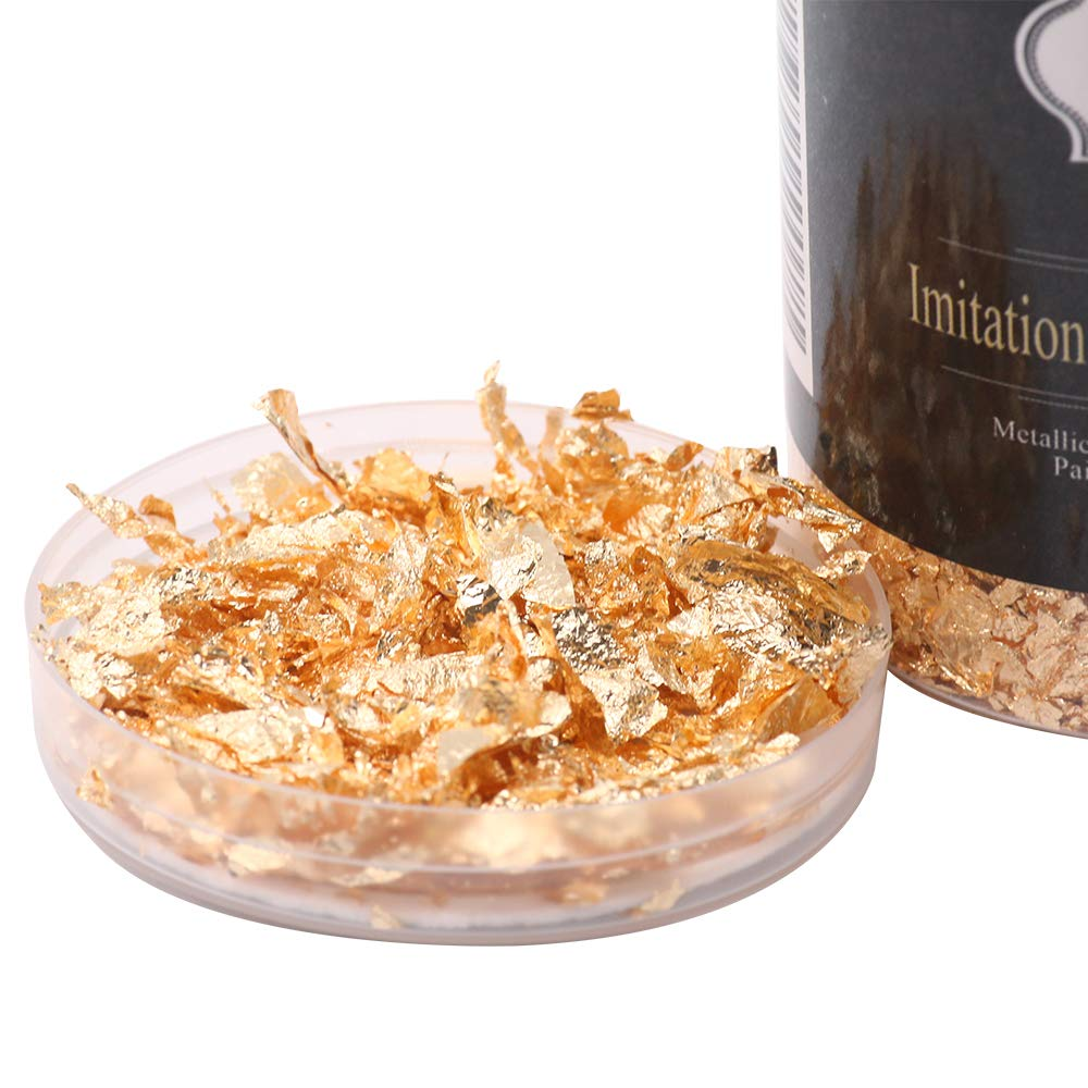 10g Aluminum Flakes Painting Arts and Crafts Painting Arts and Flakes Metallic Foil Flakes for Gilding Imitation Silver Flakes,Aluminum Foil Metallic Foil Flakes for Gilding