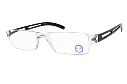 6770706fa05 Image Unavailable. Image not available for. Color  New Rimless Computer Reading  Glasses Multi-Strength Blue Light ...