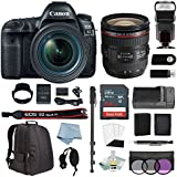 Canon EOS 5D Mark IV Full Frame DSLR Camera Kit With EF 24-70mm f/4L IS USM Lens + Digital SLR Professional Accessory Bundle - Including FREE Canon BG-E2 Battery Grip (Worth $490)