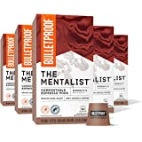 The Mentalist Compostable Espresso Pods, Medium Dark Roast Intensity 8, 50 Count, Bulletproof Coffee Capsules Compatible with