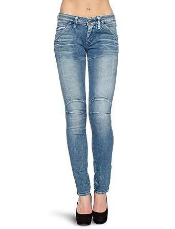 Women's Amazon G Star Jeans Elva Slim co Tapered Blue W24L30 New qTgF4