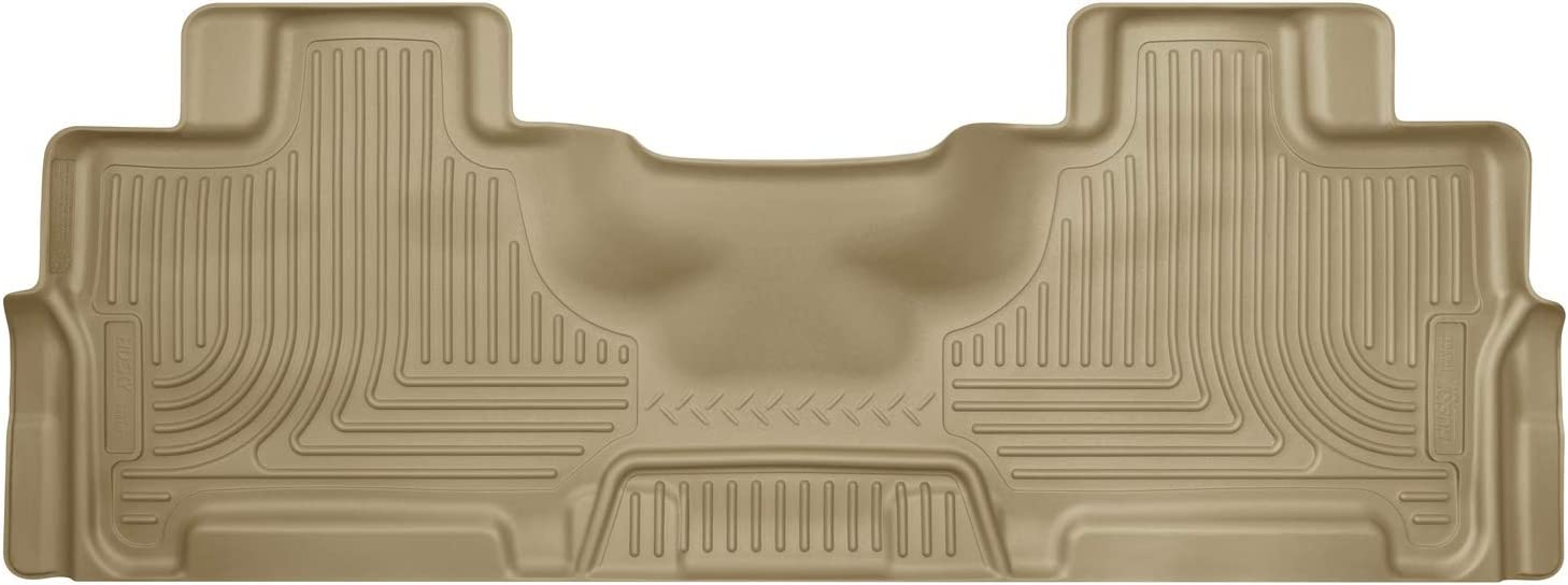 Husky Liners - 14363 Fits 2007-17 Ford Expedition EL, 2007-17 Lincoln Navigator L Weatherbeater 2nd Seat Floor Mat Tan