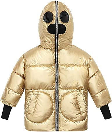 Newborn Girls Winter Down Jacket Candy Color Cute Ball Design Hooded Down Coat