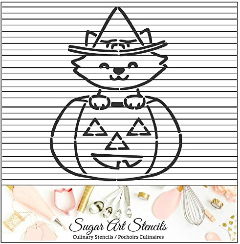 Halloween PYO cookie stencil Pumpkin cat paint your own NB900836