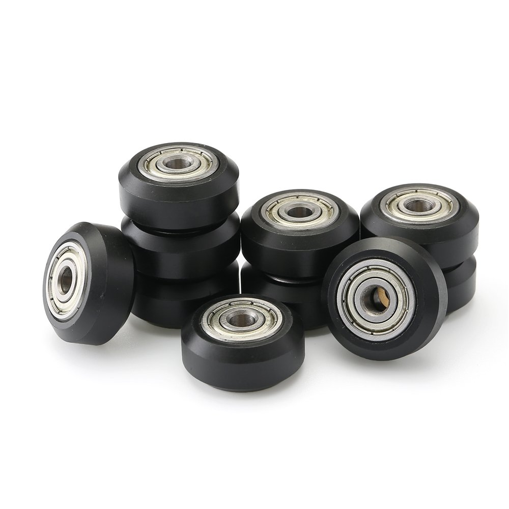 Yowming 10 pcs 3D Printer Big openbuilds Plastic Pulley Passive Round Wheel with Bearing Idler Pulley Gear Perlin Wheel Driven Wheel