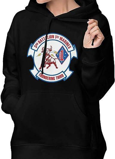 LQIAO Mens Hoodie 3rd Battalion 4th Marines Funny Warm Pullover Hoody Sweatshirt