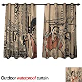 Best Div X Players - Jazz Music 0utdoor Curtains for Patio Waterproof an Review