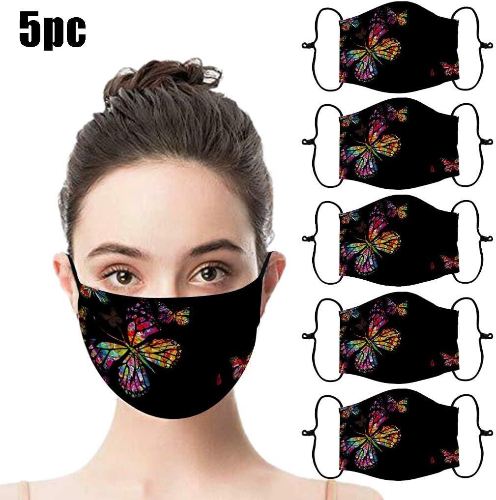 A, 1PC JIUDASG 1PC Print Reusable Dust-Proof Smog Breathable Shield Thicken Mouth Face Bandanas