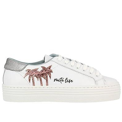 Chiara Ferragni Damen Cf1915 Weiss Leder Sneakers aSvq8gj