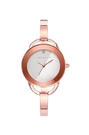 Viceroy Reloj Analogico para Mujer de Cuarzo con Correa en Acero Inoxidable 401002-09: Amazon.es: Relojes