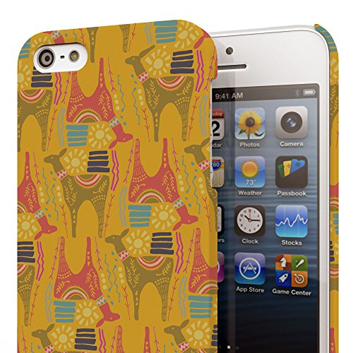 Koveru Back Cover Case for Apple iPhone 5S - Horses abstract