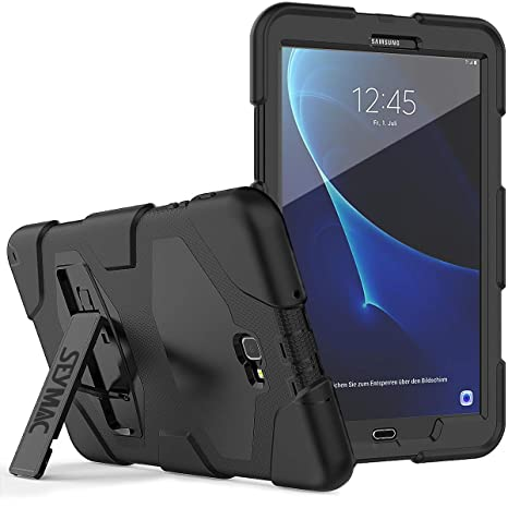 on sale e7c55 820e9 Galaxy Tab A 10.1 (2016 Only) Case, SEYMAC Full Body Rugged Protective  Silicone Bumper Case with Built-in Screen Protector and Stand for Samsung  Tab A ...