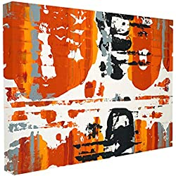 Stupell Home Décor Burnt Orange Momentum Stretched Canvas Wall Art, 16 x 1.5 x 20, Proudly Made in USA