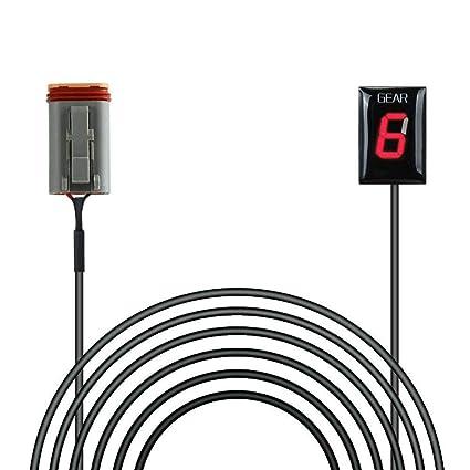 Amazon com: Waterproof Motorcycle Gear Indicator Plug & Play