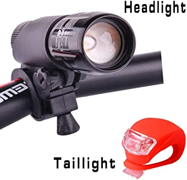 Zoomable Bike Bicycle Cycling Cree Q5 LED Front Head Light Lamp Holder Mount Set