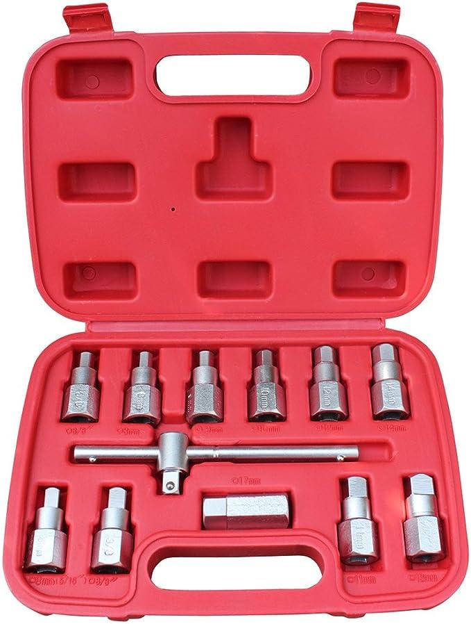Jago - OESS01 - Juego de llaves para tapón de cárter - Incluye estuche: Amazon.es: Bricolaje y herramientas