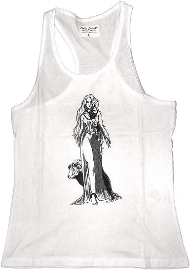 Camiseta Blanca Hombre Diosa Mari Cultura Vasca- Tallas M/L- Camiseta Tirantes 100% Algodón: Amazon.es: Ropa y accesorios