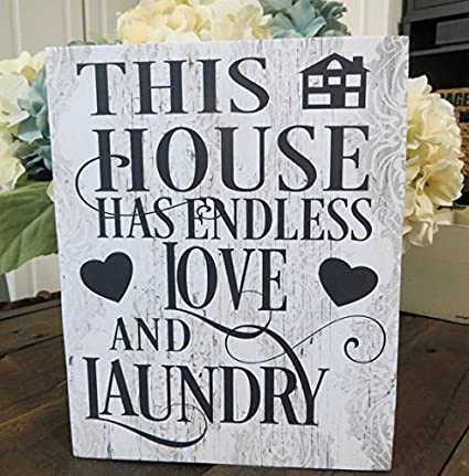 uniquepig this house has endless love and laundry wood signs with sayings beach theme home decor