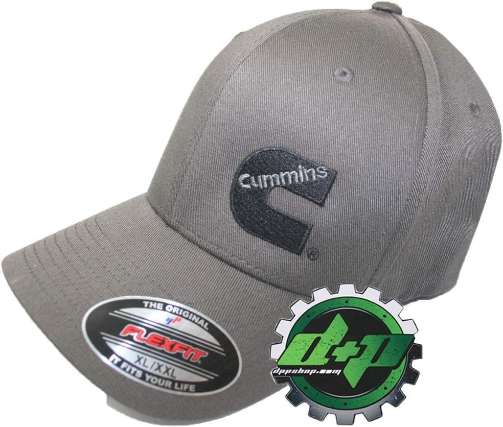 Dodge Cummins hat ball cap fitted flex fit flexfit stretch dark gray grey S//M