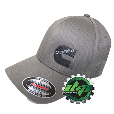 30074e4e4cbfc Amazon.com  Diesel Power Plus Dodge Cummins Dark Charcoal Gray Flexfit Flex  fit Cap hat XL XXL  Sports   Outdoors