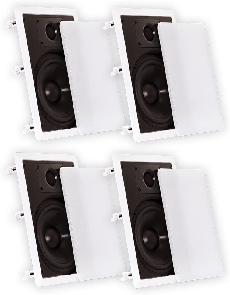 Theater Solutions CS8W in Wall 8 Speakers Surround Sound Home Theater 2 Pair Pack 2CS8W