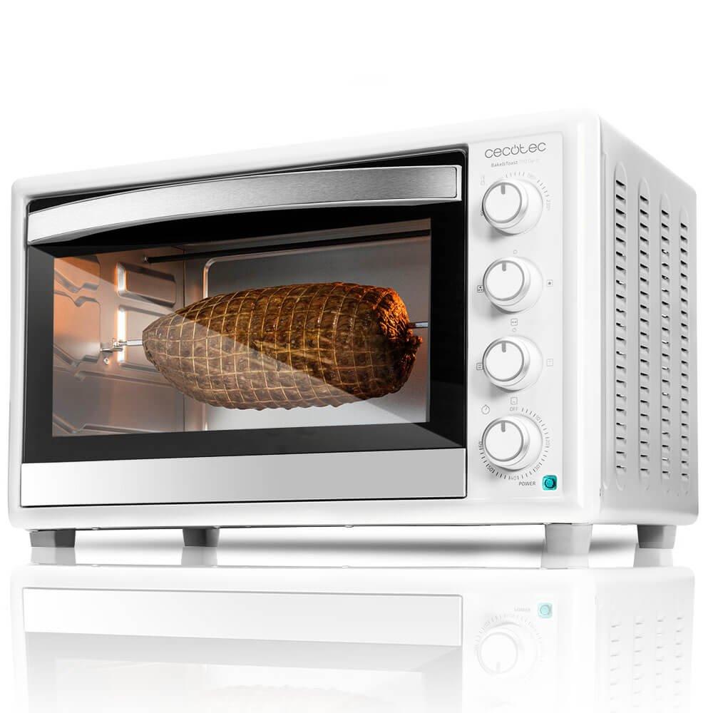 Cecotec Horno Conveccion Sobremesa Bake&Toast 790. Capacidad de 46 litros, 2000 W, 12 Modos, Temperatura hasta 230ºC y Tiempo hasta 60 Minutos, Incluye Accesorio Rustidor con pinzas