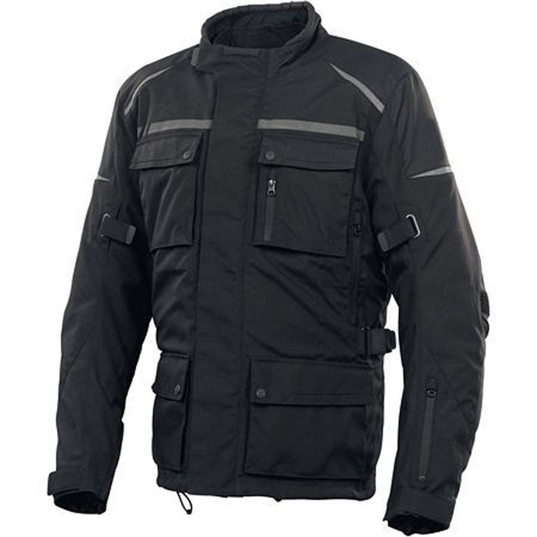 newfacelook Mens Motorbike Motorcycle Biker Waterproof Armour Jacket New Long