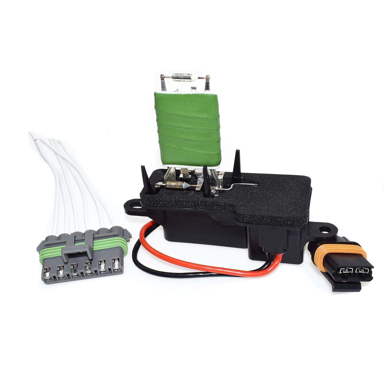 Heizung Gebl/äse L/üfter Motor Widerstand /& Wire Connector 89018436/F/ür Chevrolets Astros gmcs Safaris 96/97/98/99/00/01/02/03/04/05