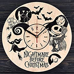 Nightmare before Christmas wooden wall clock