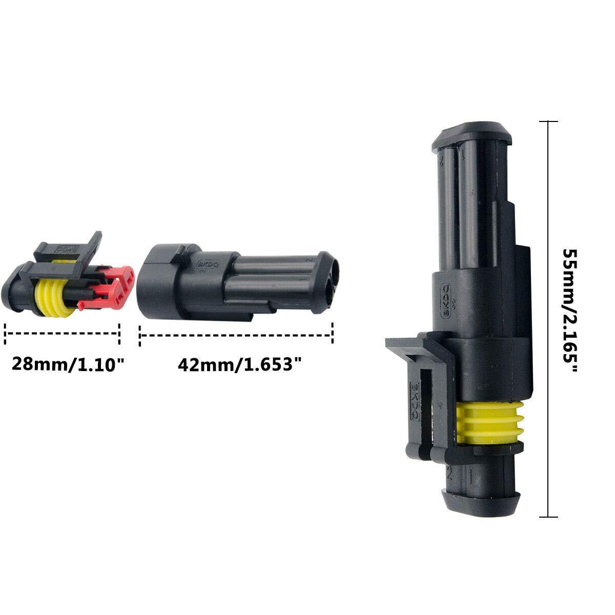 10X 2polig KFZ Stecker Steckverbindung Steckverbinder Auto Wasserdicht Kabel