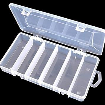 Quaanti Caja de almacenamiento de plástico para señuelos de pesca, caja organizadora de almacenamiento de 5 compartimentos: Amazon.es: Juguetes y juegos