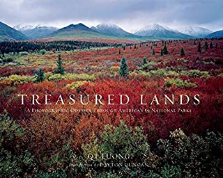 Book Cover: Treasured Lands: A Photographic Odyssey Through America's 59 National Parks
