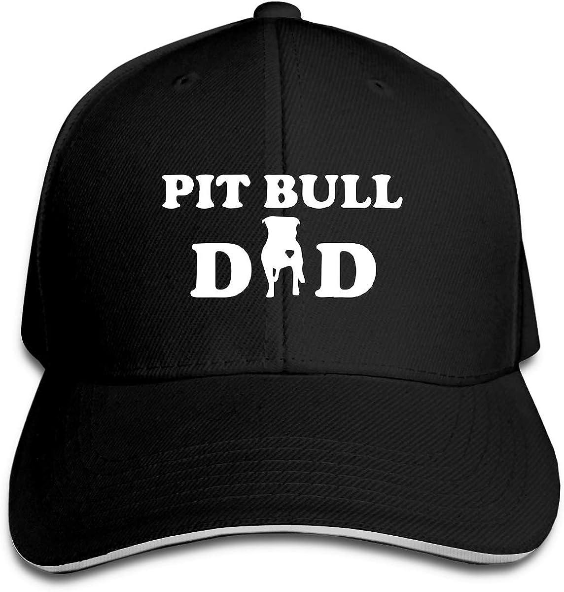 Pitbull Dad Outdoor Snapback Sandwich Cap Adjustable Baseball Hat Street Rapper Hat