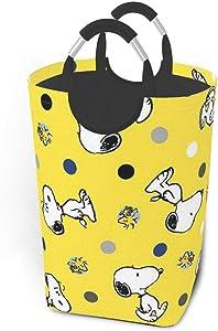 GCNqat Laundry Basket Cool Snoopy Patterns Laundry Hamper Foldable Clothes Bag Folding Washing Bin