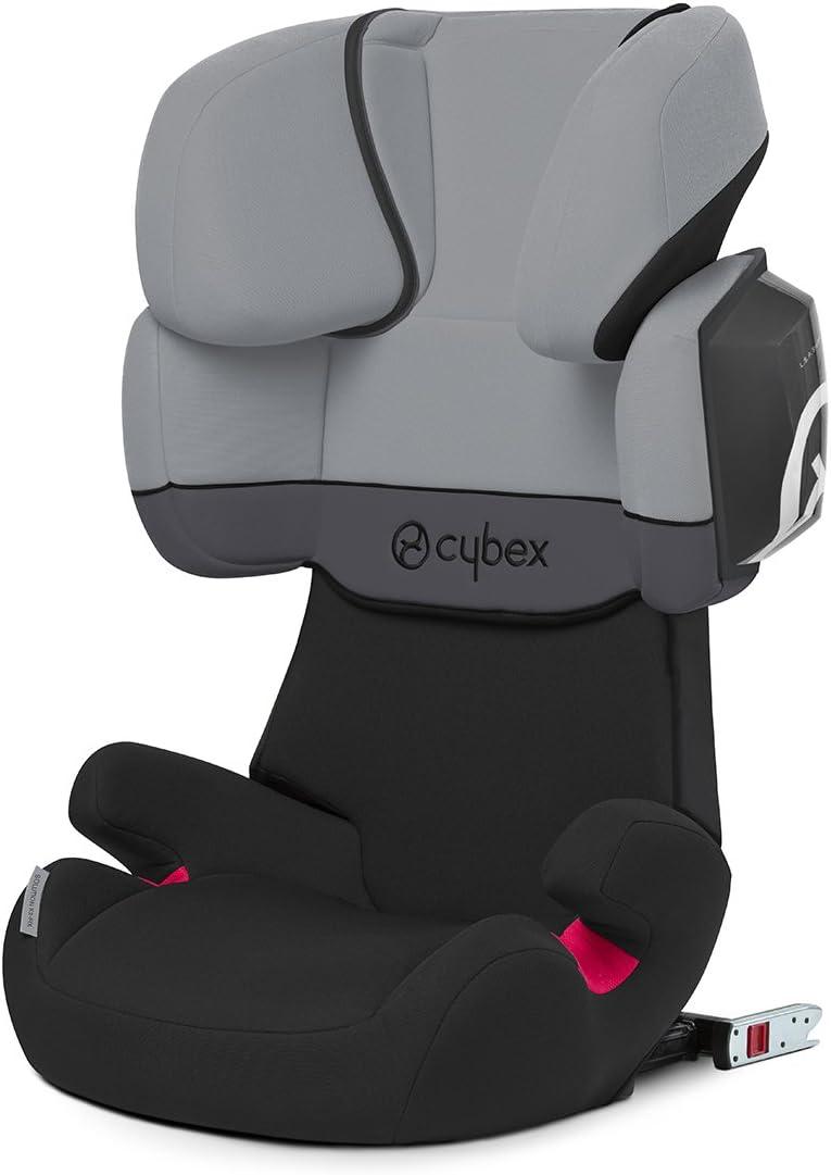 Cybex Silver Solution X2-Fix - Silla de coche con y sin Isofix, Grupo 2/3 (15-36 kg), Desde los 3 hasta los 12 años aprox., Negro (Cobblestone)