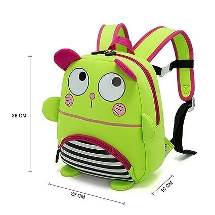 JJSSGJBB Student backpack Children School Bag 3D Cartoon Stripe Cat  Waterproof Neoprene Fabric For Toddler Boys 9dc012bf12549
