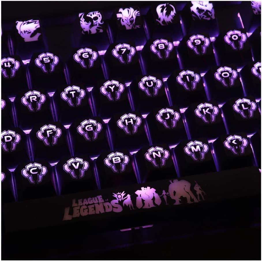 メカニカルキーボードのキーキャップ 1ハイエンドバックライト付きキーキャップについてはK70 K95LOLメカニカルキーボードブラックホールが並ぶキーキャップのセット (Colore : For other keyboards)