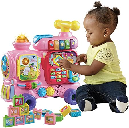 Amazon.com: VTech sit-to-stand Ultimate alfabeto tren, color ...