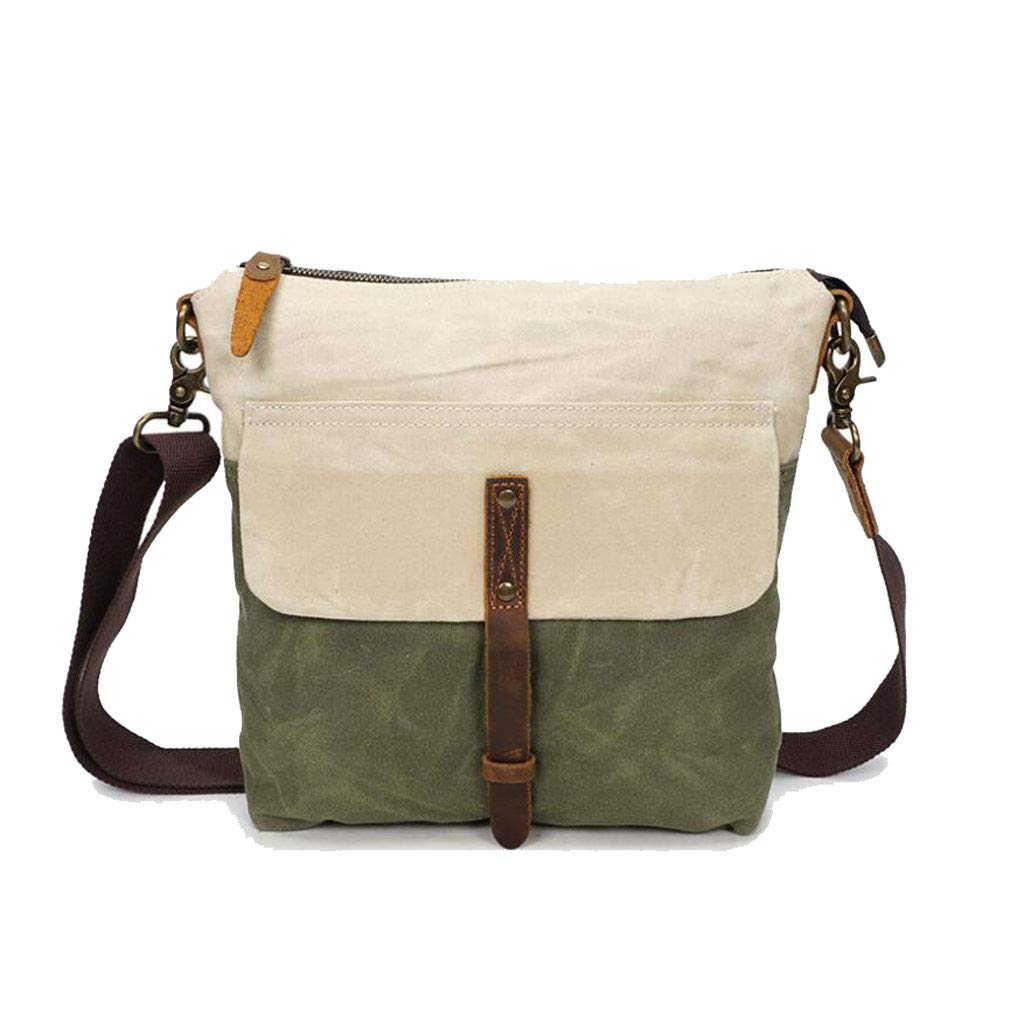 LWH color : Blue, Size : One size Mens One Shoulder Oil Wax Messenger Waterproof Canvas Retro Bag 9.842.75 11.81 IN
