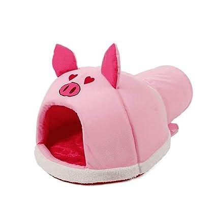 Suministros para Mascotas Animal Head Cat Saco de Dormir Pet Nest Túnel de Doble Uso WHLONG