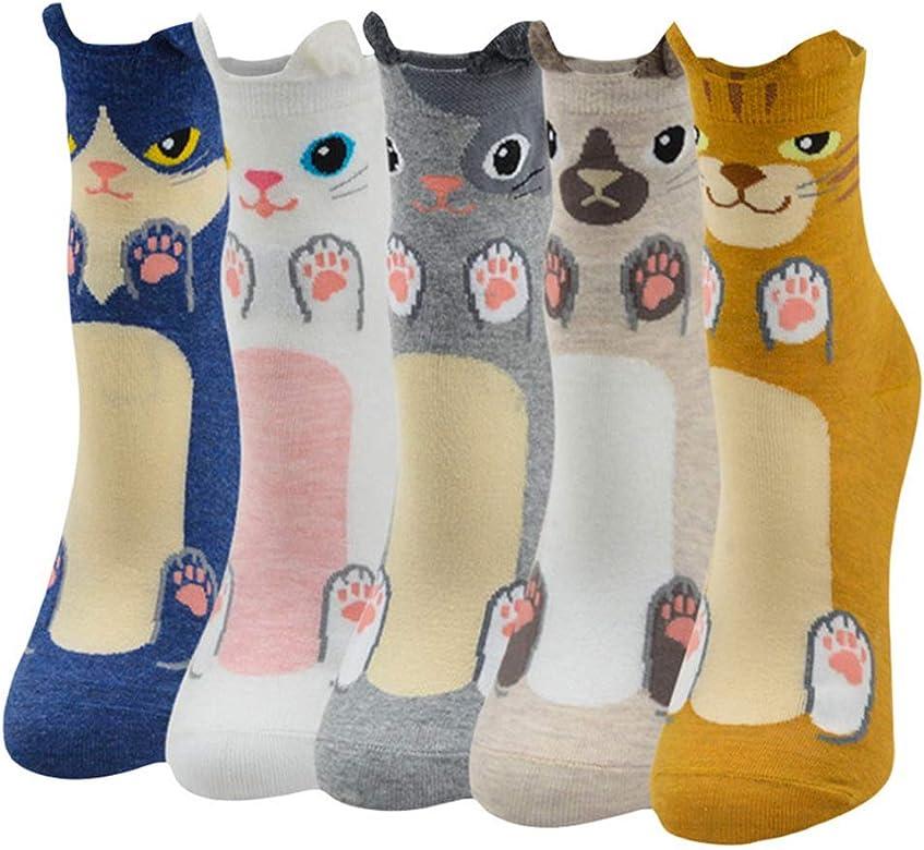Calcetines Algodón de Diseños Creativos Multicolor Animal Perro ...