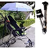 Swivel Wheelchair Bicycle Umbrella Connector Holder, Baby Stroller Umbrella Stand Holder 360 Degree