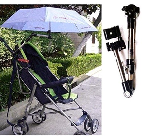 Swivel Wheelchair Bicycle Umbrella Connector Holder, Baby Stroller Umbrella Stand Holder 360 Degree by BestBuyProduct-SportOutdoor